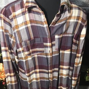 Maurices fall flannel shirt wine mustard Nwot